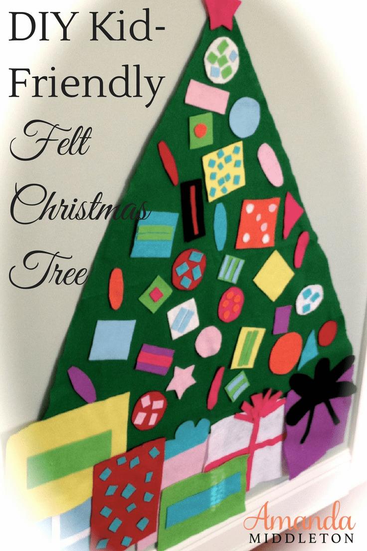 DIY Kid Friendly Felt Christmas Tree Craft & Decoration