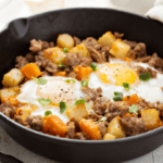 Clean Eating with Fried Eggs & Sweet Potato Hash