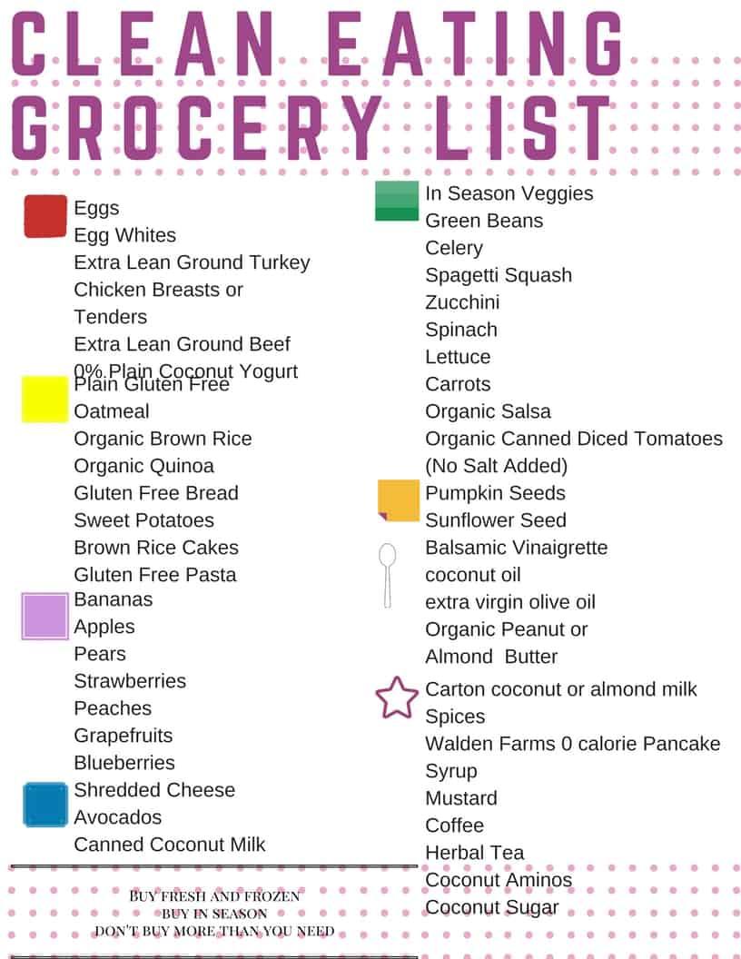 free grocery list