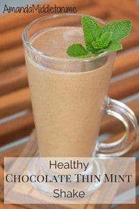 Healthy Chocolate Thin Mint Shake