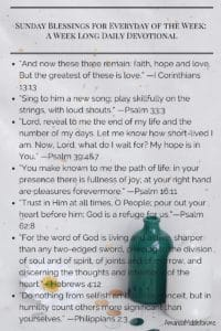 Sunday Blessings for Everyday of the Week: A Week Long Daily Devotional Print