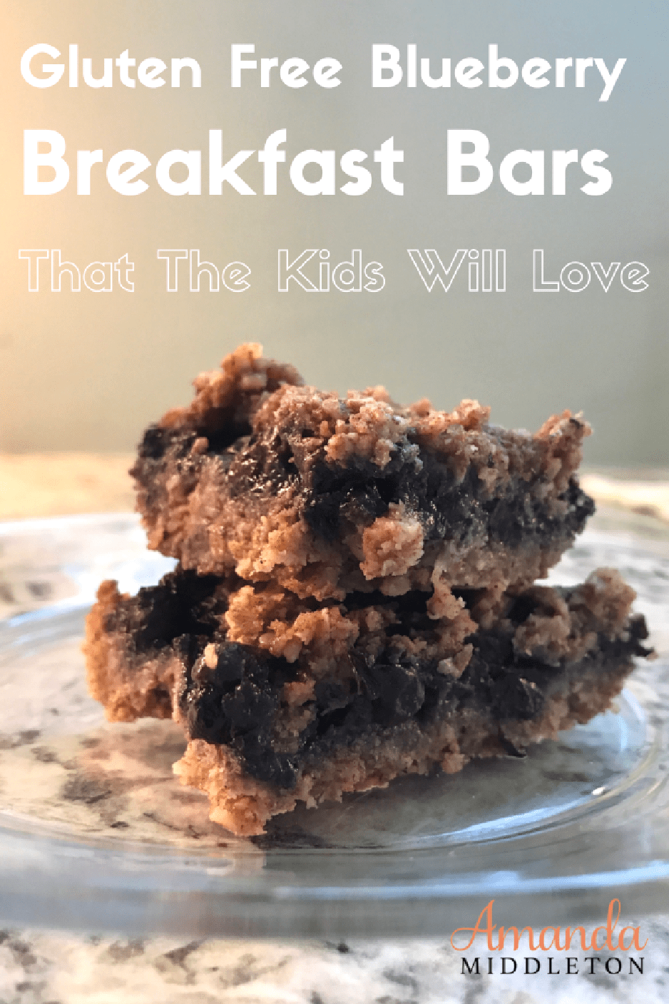 Gluten Free Blueberry Breakfast Bars That The Kids Will Love