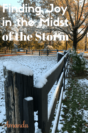 Finding Joy In The Midst of The Storm