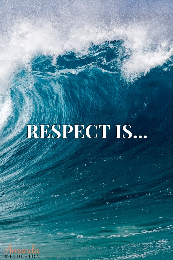 What is respect? Respect is a privilege, not a right. So many times we mix this fact up when it comes to the word Respect. Respect is earned, not given! #AmandaMiddleton #faithblog #wordsoftruth #respect #whatisrespect #respectothers
