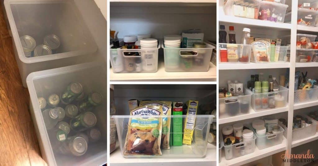 Pantry makeover tips that will make organizing so much simpler. You'll finally fall in love with your pantry again. Reclaim it! #AmandaMiddleton #faithblog #wordsoftruth #pantrymakeover #organization
