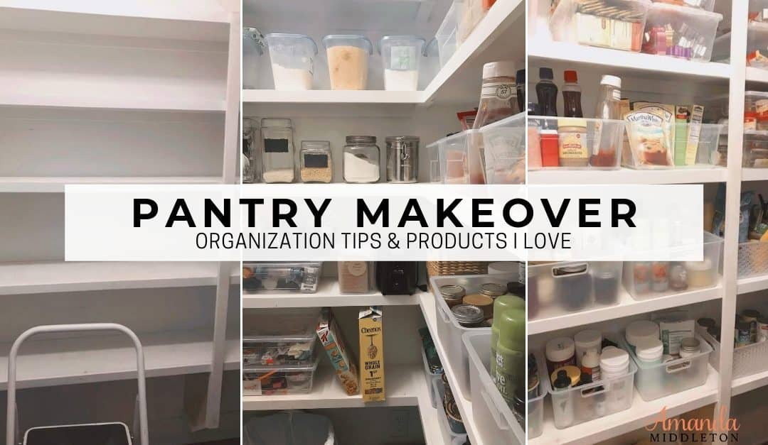 Simple Pantry Makeover Tips and Organization Products I LOVE!