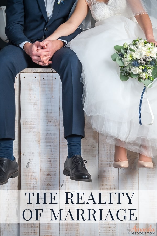 The reality of marriage is that there is no such thing as a perfect marriage. #amandamiddleton #faithblogger #wordsoftruth #purposefullwoman #livingpurposefully #marriagegoals #godlymarriage
