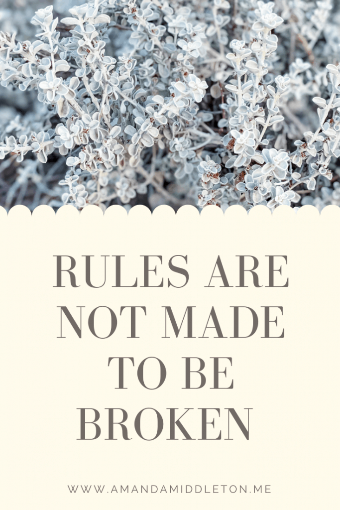 Rules Are Not Made To Be Broken